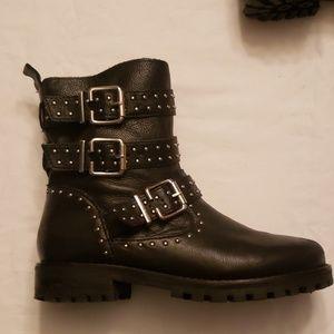 Zara leather booties size 3